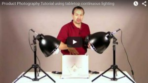 Product Photography Tutorial using tabletop continuous lighting