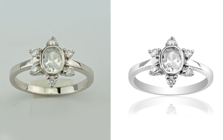 high end jewelry photo retouching services