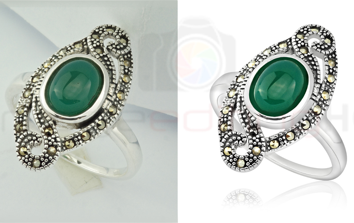 high end jewelry retouching services