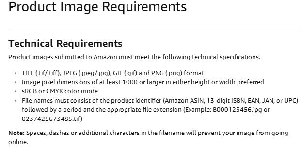 amazon photo editing services requirement